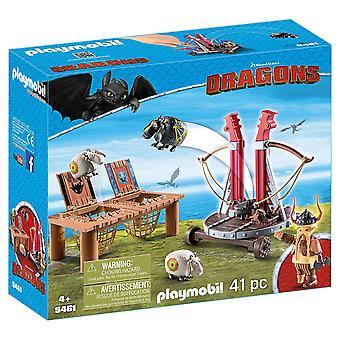 Playmobil DreamWorks Dragons 9461 Gobber eructo con eslinga de ovejas