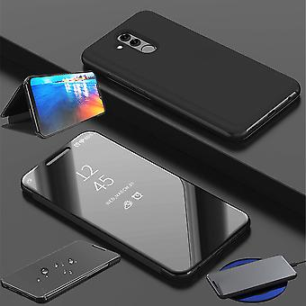 For Huawei honor Vis 20 / V20 fjerne visning speilet speil smart dekke svart beskyttende coveret veske bag tilfelle nye tilfelle våkne opp funksjonen