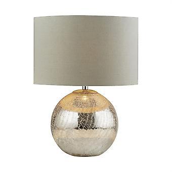 Dazzle lampada da tavolo specchio incrinato con ombra - Searchlight 1065
