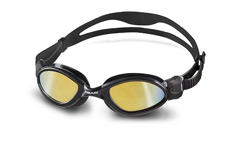 Head Superflex Mid Swimming Goggles - Smoke Mirrored Lenses - Black