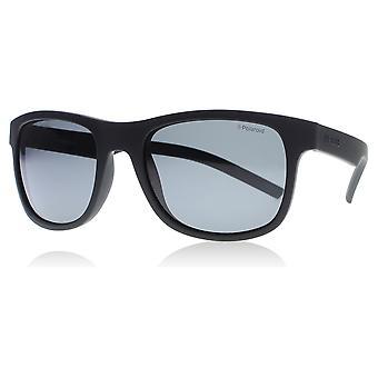 Polaroid 6015/S YYV Black Rubber 6015/S vierkante zonnebril gepolariseerde Lens categorie 3 gespiegelde grootte 50mm Lens