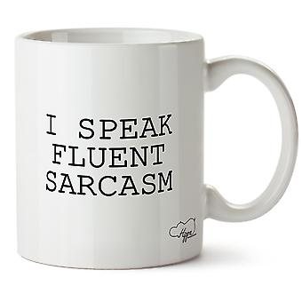 Hippowarehouse ik spreek vloeiend sarcasme 283,5 Gram mok Cup, Céramique, Blanc, One Size (10oz)