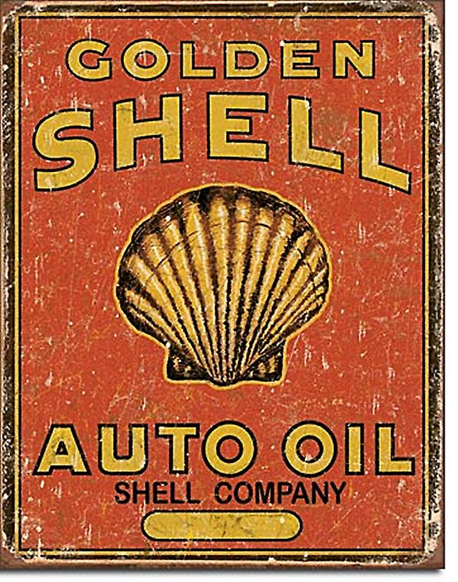 Golden Shell Auto Oil Metal Sign         (de)