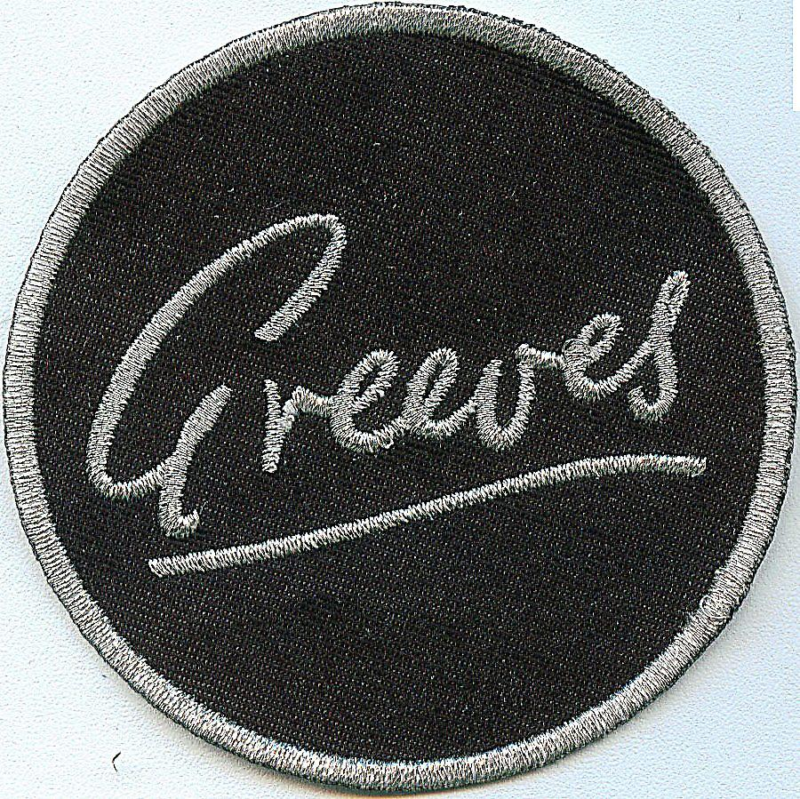Greeves Motorcycles iron-on/sew-on cloth patch  (ff round)