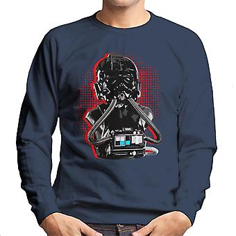 Original Stormtrooper Imperial TIE Pilot Red Burst Men's Sweatshirt