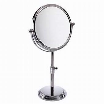 Famego 5x Magnification Chrome Adjustable Round Pedestal Mirror