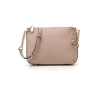 Michael Kors Crosby Beige Leather Shoulder Bag