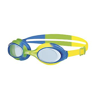 Zoggs Bondi Junior Swimming Goggles - 6-14 Years - Tinted Lens - Green/Blue/ Yelllow