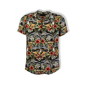 Guess Hawaiian Mix Shirt (Black)