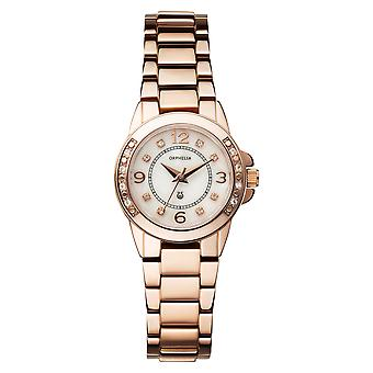 ORPHELIA Ladies Analogue Watch Romantic Rose Gold Stainless steel 122-4709-17