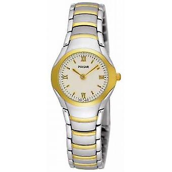 Pulsar Womens Two Tone Stainless Steel Bracelet PEG406X1 Watch