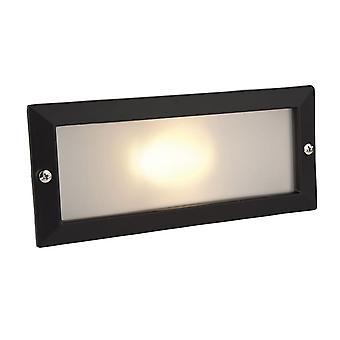 Firstlight-1 licht buiten baksteen licht buiten-zonder Louvre zwart, opaalglas IP54-1120BK
