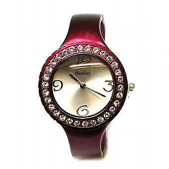 Henley Metallic Plum Crystal Bangle Ladies Fashion Watch H07120.10