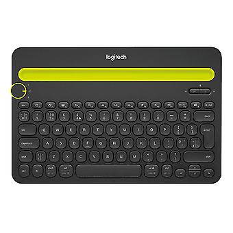 Logitech K480 Multi Device Bluetooth Keyboard for PC, Smartphone and Tablet (QWERTY) - Black