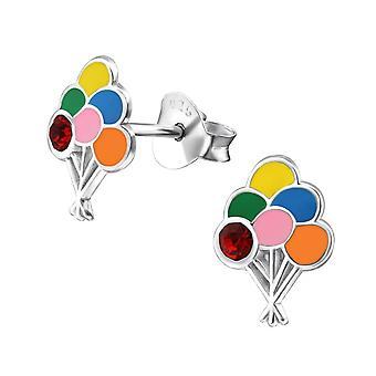 Children's Sterling Silver Balloon Cluster Stud Earrings