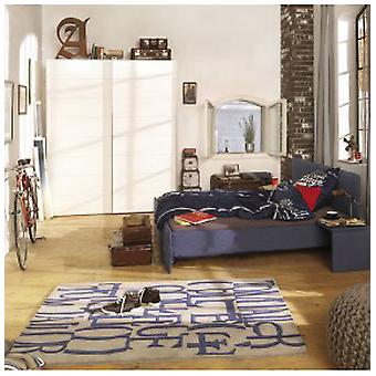 Rugs -Tom Tailor - Letters Blue & Grey