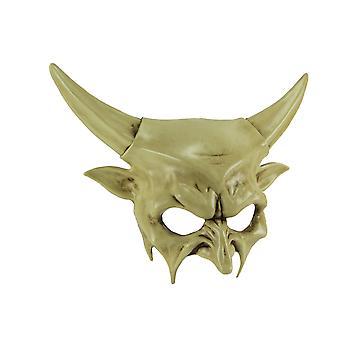 Off-White Dark Demon Horned Devil Adult Halloween Mask