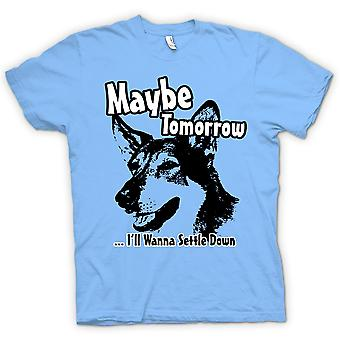 Womens T-shirt-kleinste Hobo - Maybe Tomorrow - Funny