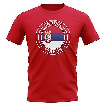 Camiseta Serbia Football Badge (Rojo)