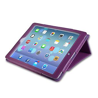Caseflex iPad Air Textured Faux Leather Stand Cover Purple