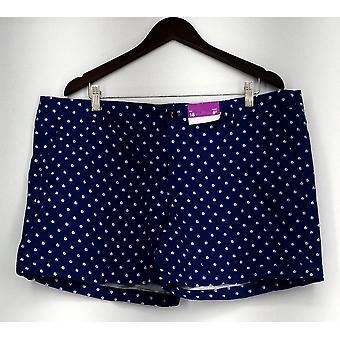 Merona shorts geometrische gedrukte rits sluiting blauw nieuw