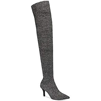 INC International Concepts Womens Pewter Fabric Pointed Toe Over Knee Mode...