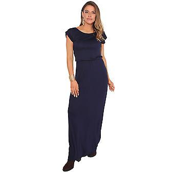 KRISP KRISP Turn up Batwing Sleeve hoge taille lange trui maxi jurk feest zomer 3269
