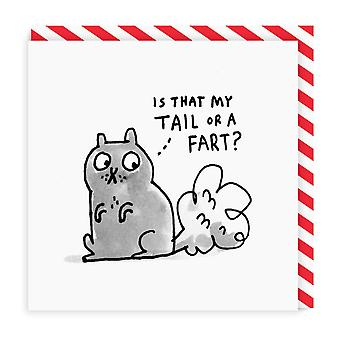 Ohh Deer Is That My Tail Square Greeting Card