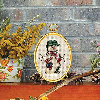 Country Snowman Mini Counted Cross Stitch Kit-3