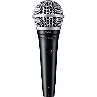 Speech microphone Shure PGA48 XLR Transfer type:Corded incl. cable, incl. clip, Switch, Steel enclosure