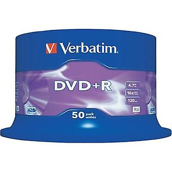 Blank DVD+R 4.7 GB Verbatim 43550 50 pc(s) Spindle