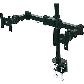 2x Monitor desk mount 25,4 cm (10) - 61,0 cm (24) Swivelling/tiltable Manhattan
