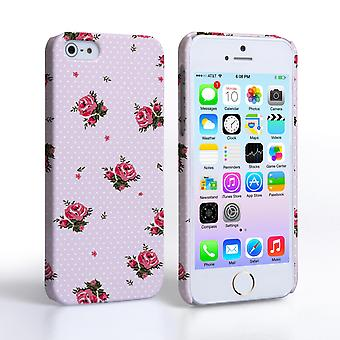 Caseflex iPhone SE Vintage Roses Polka Dot Wallpaper Hard Case – Pink