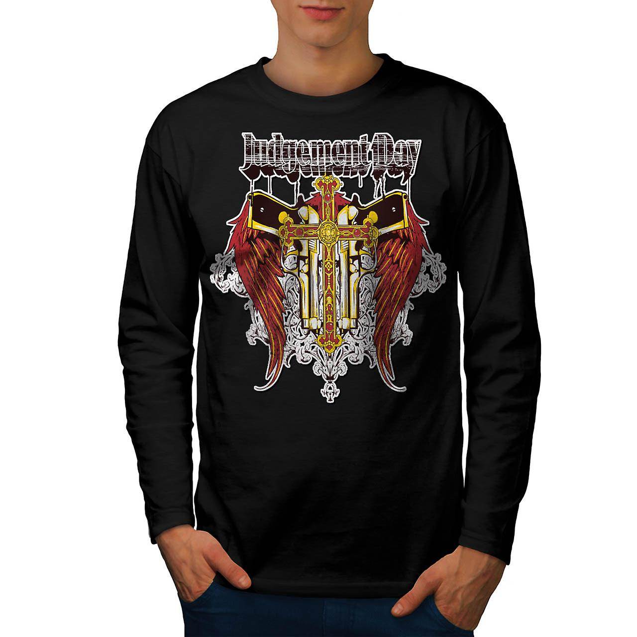 Judgement Day Hell Devils Lair Men Black Long Sleeve T-shirt | Wellcoda