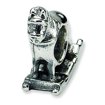 Sterling Silver Antique finish Reflections Rocking Horse Bead Charm