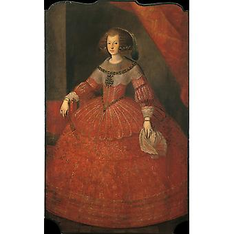 Portrait Of Mariana Of Austria Poster Print
