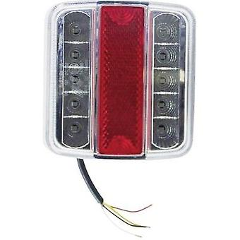 LEDs Trailer tail light right 12 V Red, Silver