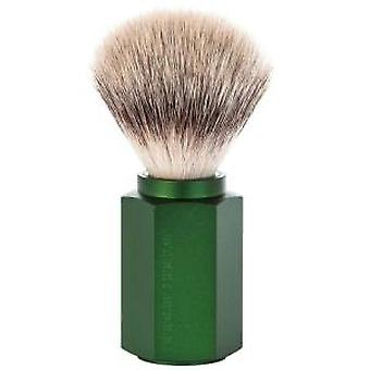 Muhle Hexagon Silvertip Fibre® Brush in Forest Finish