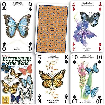 Butterflies of the World set of 52 playing cards (+ jokers)    (hpc)