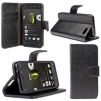 i-Blason-Amazon brann telefon-Slim skinn lommebok bok Cover - svart