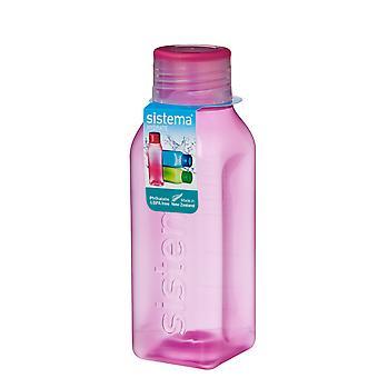 Sistema hydrat 475ml firkantede Drink flaske, Pink