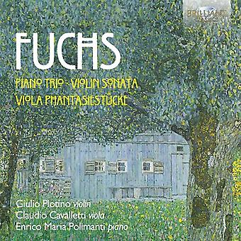 Fuchs / Plotino / Cavalletti / Polimanti - pianotrio - Violin Sonata - Viola Phantasiestueck [CD] USA import