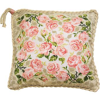 Roses Cushion Counted Cross Stitch Kit-15.75