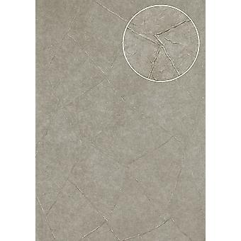 Trowel plaster embossed wallpaper Atlas IN the-5079-3 structural wallpaper and metallic effect Platinum Platinum Grey perl light grey white-aluminium 7,035 m2