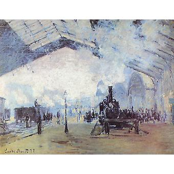 Claude Monet - White and Blue Poster Print Giclee