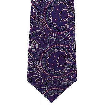 Michelsons London feine Seide Krawatte Paisley - Magenta Purple