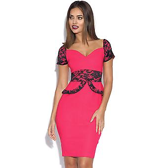 Vesper Loretta Lace Peplum Dress