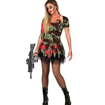 Las mujeres trajes de las mujeres Sexy ejército de halloween zombie