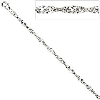 Singapore chain necklace necklace 925 sterling silver 2.9 mm 45 cm lobster clasp