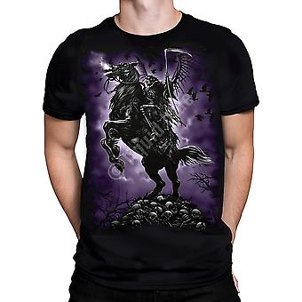 Liquid Blue - THE REAPER RIDES OUT - Short Sleeve T-Shirt  PLUS SIZES